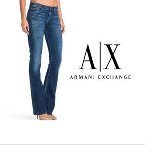 Armani Exchange Dark Wash Bootcut Jeans